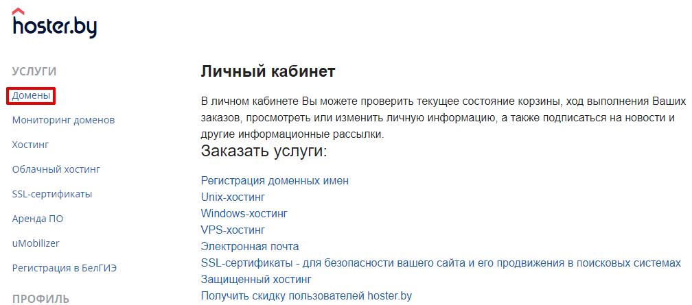 регистрация бесплатных доменов net ru